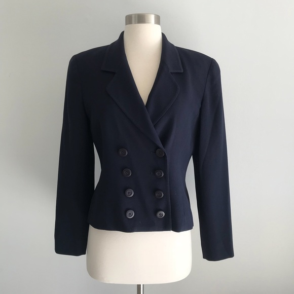 c6c38be2 Christian Dior Double Breasted Blazer Jacket Sz 4